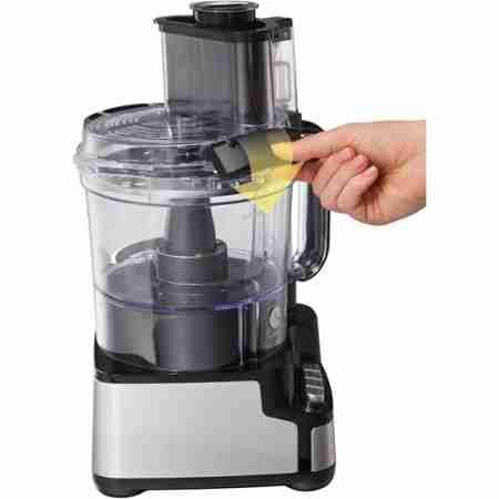 Hamilton Beach Stack & Snap 12-Cup Food Processor, Black Finish