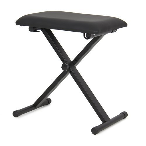 TopStageLeather Padded Piano Keyboard Bench Seat w/ Rubber Feet Stool Chair, JX90