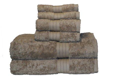 (Baltic Linen Majestic 6-Piece Heavy Weight Cotton Towel Set,)