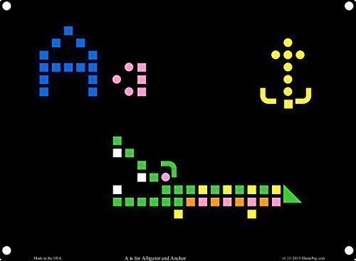 Lite Brite Refill: Letters  for Create With Light / Magic