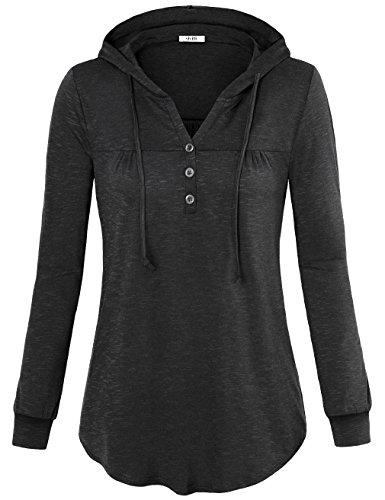 Button Pullover Sweatshirt - 3