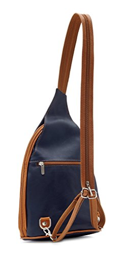 Shoulder Womens Convertible Pelle Leather Handbag Ladies Amethyst Navy Bag Backpack Rucksack Retail Vera wq4Rw0Y