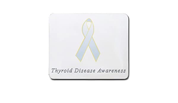 Amazon Com Thyroid Disease Awareness Ribbon Mouse Pad Office