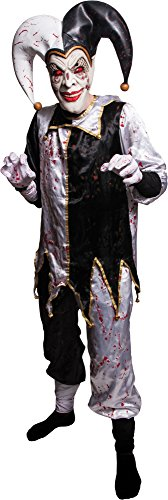 Morbid Enterprises Evil Harlequin Costume Set, White/Gold/Black/Red, Standard]()