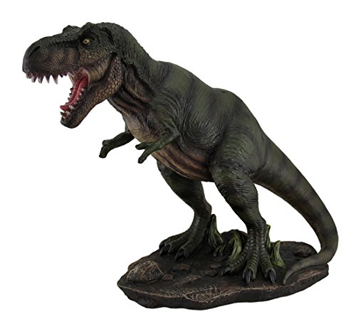 Resin Statues Tyrannosaurus Terror T Rex On The Hunt Decorative Statue 14 Inch 14 5 X 11 5 X 6 5 Inches Green