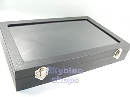 Amazoncom Glass Top Black Velvet Jewelry Display Box for Necklace
