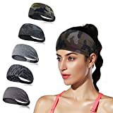 DINIGOFIN Wide Sports Headbands for Women Non Slip Fitness Headband-Moisture Wicking Sweatband for Workout,Yoga,Running...