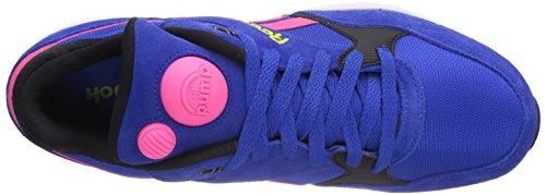 Reebok M4672_Pump Infinity Runner Zapatillas para Hombre Vital Blue/Solar Pink/Bright Yellow/White/Blk