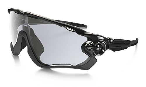 Oakley Jawbreaker Sunglasses Pol BLK/Clear to BLK Photochromic & Care Kit - Sunglasses Photochromic Oakley