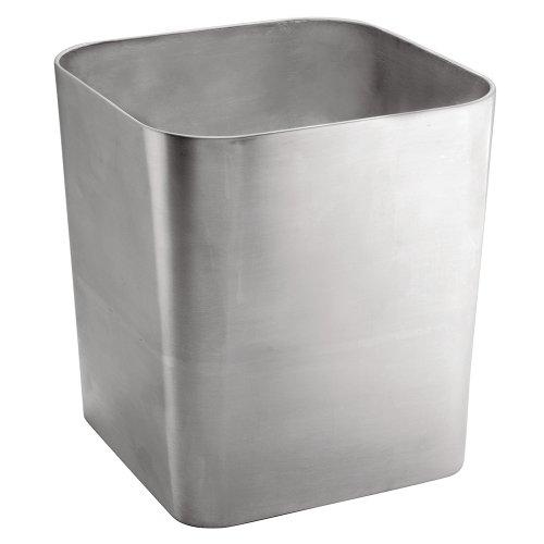UPC 081492165804, InterDesign Gia Wastebasket Trash Can, Brushed Stainless Steel