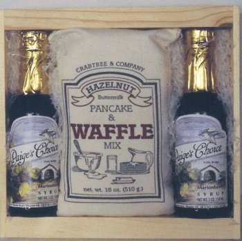 Waffle Mix 18oz. with 2 Mixed Berry Syrups 5oz. Crate