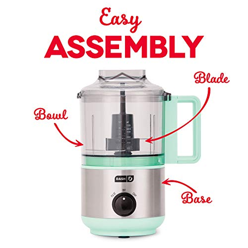 Dash DMFP100AQ Express Mini Food Chopper, 2 Cup, Aqua by Dash (Image #3)