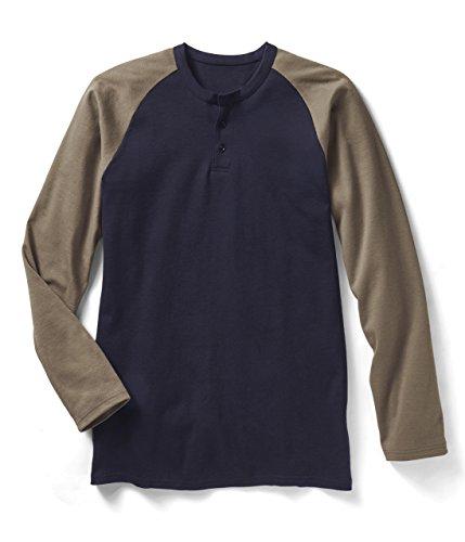 rasco-fr-mens-rasco-khaki-navy-henley-flame-resistant-t-shirt-m-mulitcolor