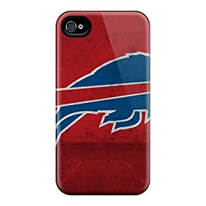 Scratch Resistant Hard Phone Cover For Iphone 4/4s With Allow Personal Design Nice Buffalo Bills Skin VIVIENRowland