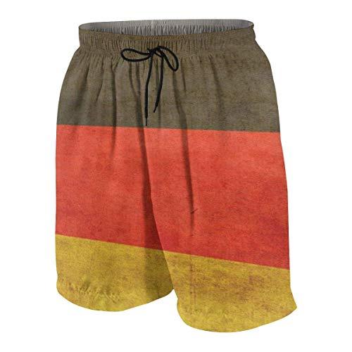 Rudi Cup - World Cup German Chariot Flag Mens Hawaiian Boardshorts Quick Dry Swim 3D Printed Elastic Beach Trunks Aloha Short with Pocket,Size:XXL