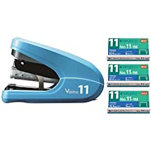 Max Vaimo HD-11FLK Flat Clinch Stapler With 3 Boxes Staples (35 sheets)