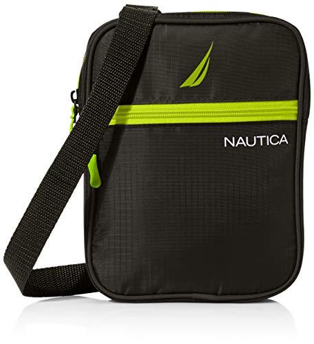 Nautica Small Crossbody Bag for Men, black, One Size