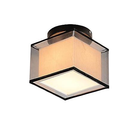 OYLYW Cuadrado Moderno Simple Lámpara de Techo Montaje ...