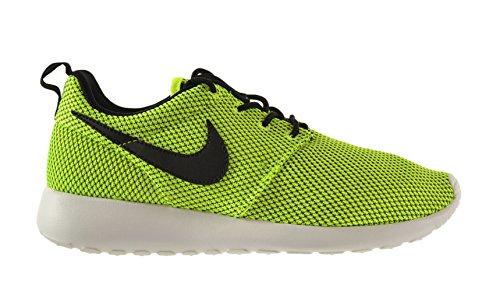 Nike Roshe Run (GS) Big Kids Shoes Volt/Black-White-Black 599728-700 (4 M US)