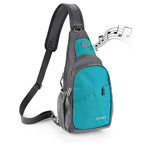 Elfhao Sling Bag Outdoor Waterproof Shoulder Backpack Chest Crossbody Bag Bike Women Men Girls Boys Travel Daypack (Lake Blue)