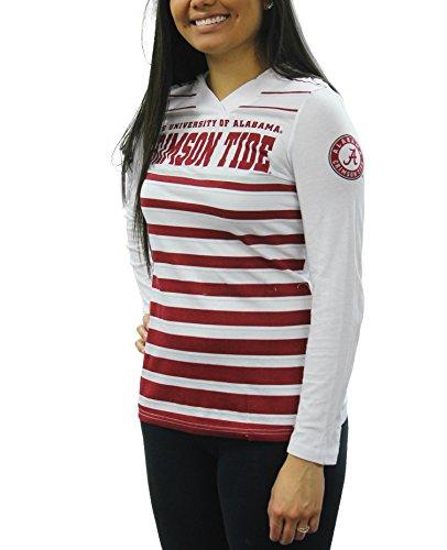 Creative Apparel Women's NCAA Alabama Crimson Tide Long Sleeve Hoodie T-Shirt Tee