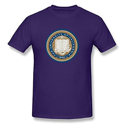 EnHui Personalized Men's University Of California Screw Neck Teeshirts Large Purple