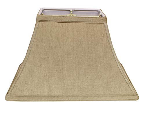 (Slant Rectangle Bell Hardback Lampshade with Washer Fitter, Tan, (HI01537) )