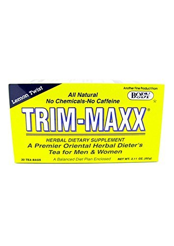 Trim-Maxx Lemon Twist Herbal Dietary Supplement All Natural No Chemicals No Caffeine 30 Tea Bags
