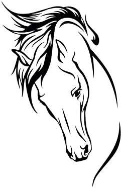 Color : White Cvxgdsfg Cartoon Charakter Tier Aufkleber Pferdekopf K/örper Aufkleber Auto Auto Aufkleber