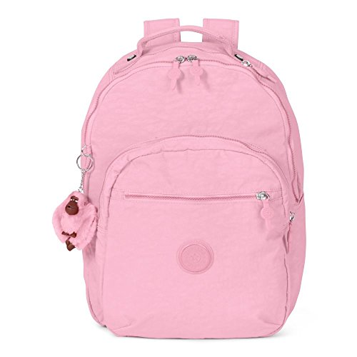 Kipling Women's Seoul Large Laptop Backpack One Size Scallop (Pink Scallop)