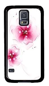 Samsung Galaxy S5 Elegant pink flowers PC Custom Samsung Galaxy S5 Case Cover Black