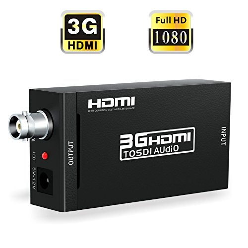 HDMI to SDI, ABLEWE HDMI to SDI Video Converter BNC SDI/HD-SDI/3G-SDI Adapter Support 1080P for Camera Home Theater
