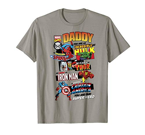 Marvel Avengers Father's Day Retro Comic Graphic T-Shirt -