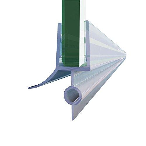 """SUNNY SHOWER Frameless Shower Door Sweep for 1/4"""" Glass 28"""" Length Shower Door Bottom Seal Strip"""