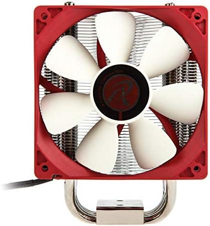 Raijintek Themis Evo 120MM Processor Cooler Metallic Red//White