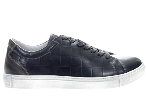 Blu in Uomo Giardini Nero Pelle Sneaker Grigio qxzFO4