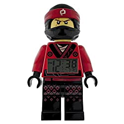 LEGO NINJAGO MOVIE Kai Kids Minifigure Light Up Alarm Clock | red/black | plastic | 9.5 inches tall | LCD display | boy girl | official