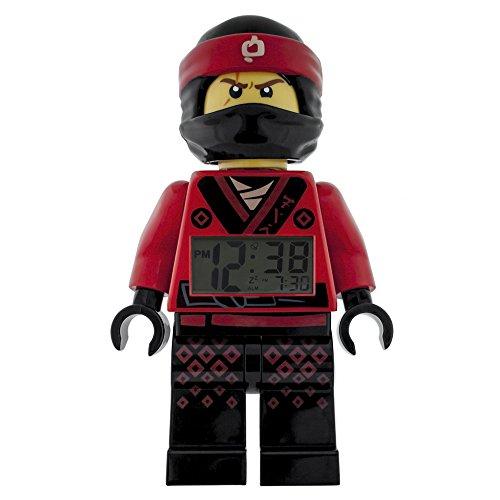 LEGO NINJAGO MOVIE 9009211 Kai Kids Minifigure Light Up Alarm Clock   red/black   plastic   9.5 inches tall   LCD display   boy girl   official