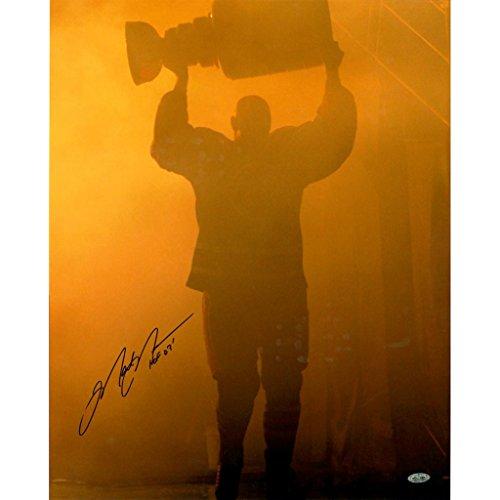 Retirement Night w/ Stanley Cup 16x20 Photo w/ HOF Insc. (Mark Messier Oilers)