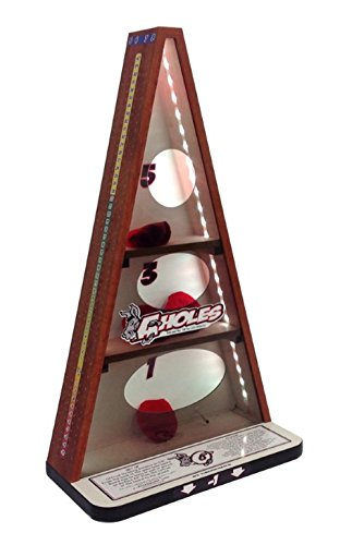 Donkey Bag's Game, Tailgating Bean Bag Toss, Wood Grain Finish w/LED Lights, Indoor Outdoor by Gronomics (Image #3)