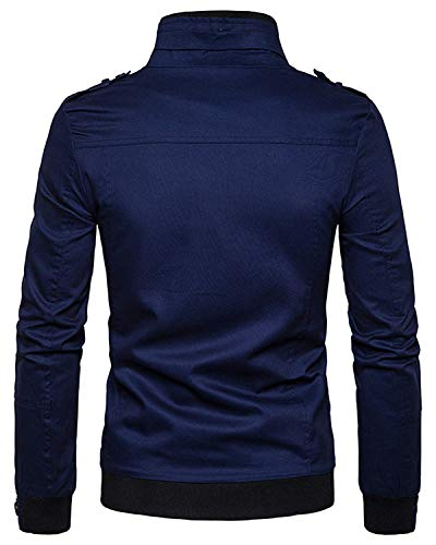 Manica Hip Uomo Urban 5 Capispalla Lunga color L Baseball Size Bomber navy Chic Jacket Hop Da Giacche Basic Harrington Cqq7x5nr