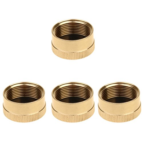 MonkeyJack 4 Pieces Solid Brass Cap 1 LB Propane Bottle Small Gas Tank Cylinder Protect Cap