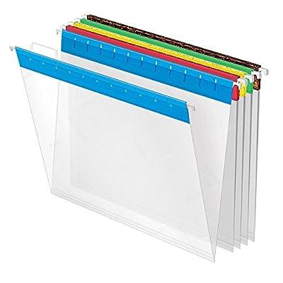 Pendaflex EasyView Hanging Folders, Letter Size, Assorted Colors, 25 per Box (55708)