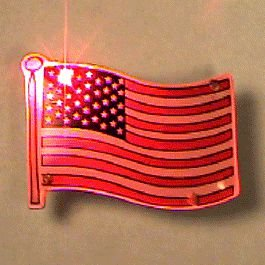 blinkee USA Flag Flashing Body Light Lapel Pins by