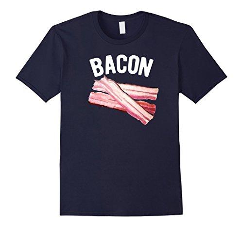 [Men's Bacon & (Eggs) Funny Matching Halloween Costume T-Shirt 2XL Navy] (Bacon And Egg Halloween Costume)