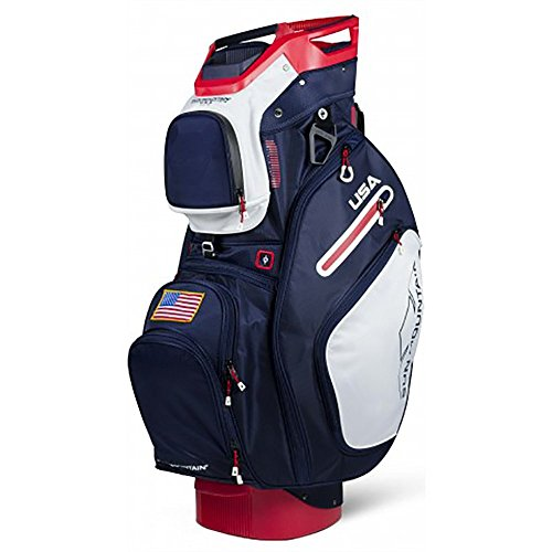 Sun Mountain Golf 2018 C-130 Cart Bag Navy, White, Red (Navy-White-Red)