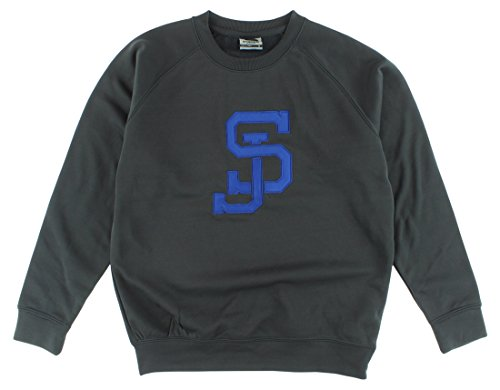 (Stadium Mens San Jose State Spartans Crewneck Pullover Sweater Dark Grey S)