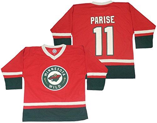 NHL Minnesota Wild Parise #11 Boys Hockey Jersey / Sweater L/12-14 Red