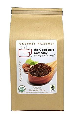 The Good Java Company - Gourmet Hazelnut USDA Organic Fair Trade Small Batch Roasted Coffee (Ground) (Hazelnut Roasted)
