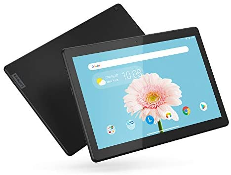 "Lenovo Tab M10 HD 10.1"" Tablet, Android 9.0, 16GB Storage, Quad-Core Processor, WiFi, Bluetooth, ZA4G0000US, Slate Black"